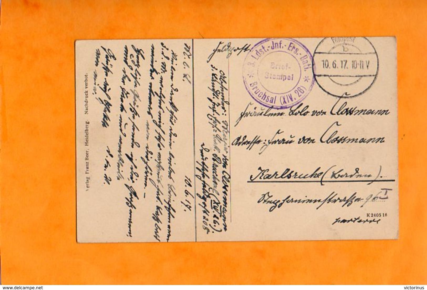 OLITA - ALITUS - ALYTUS - ( Polnisch ) Landst. Inf. Ers. Batl. BRUCHSAL ( XIV - 26 )  RUSSICHE KASERNE - Juin 1917 - Lituanie