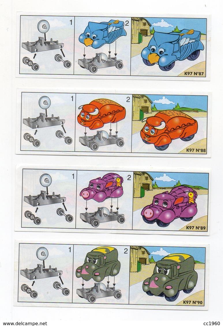 Componibili KINDER - 1997 - Cartine Nr. 87 - 88 - 89 - 90 - (FDC15514) - Istruzioni
