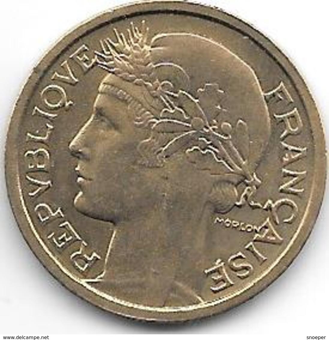 France  1 Franc  1938 Km 885   Xf - H. 1 Franco