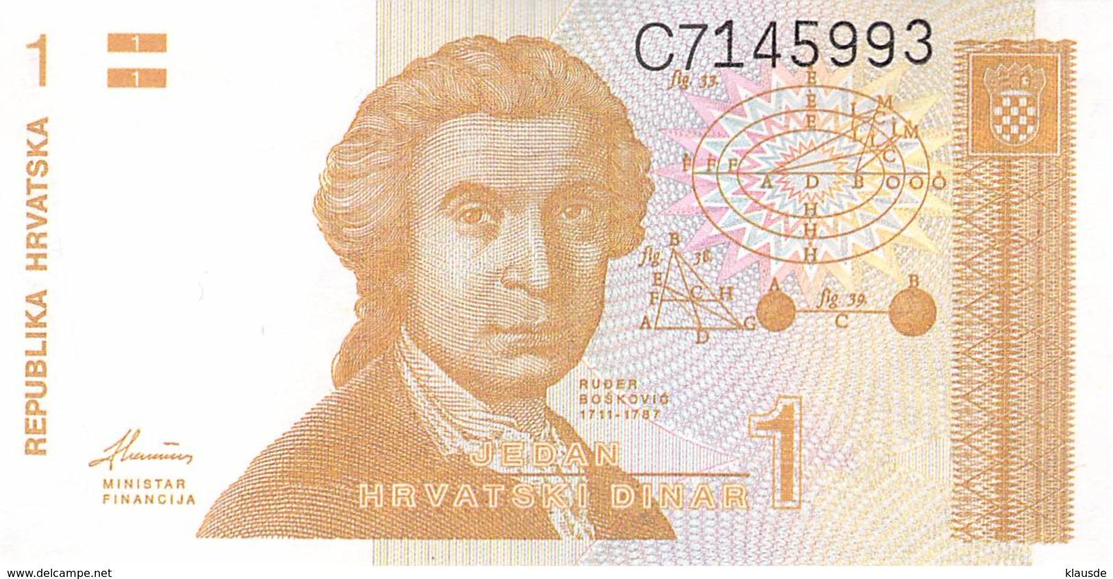 1 Dinar Kroatien - Croatia