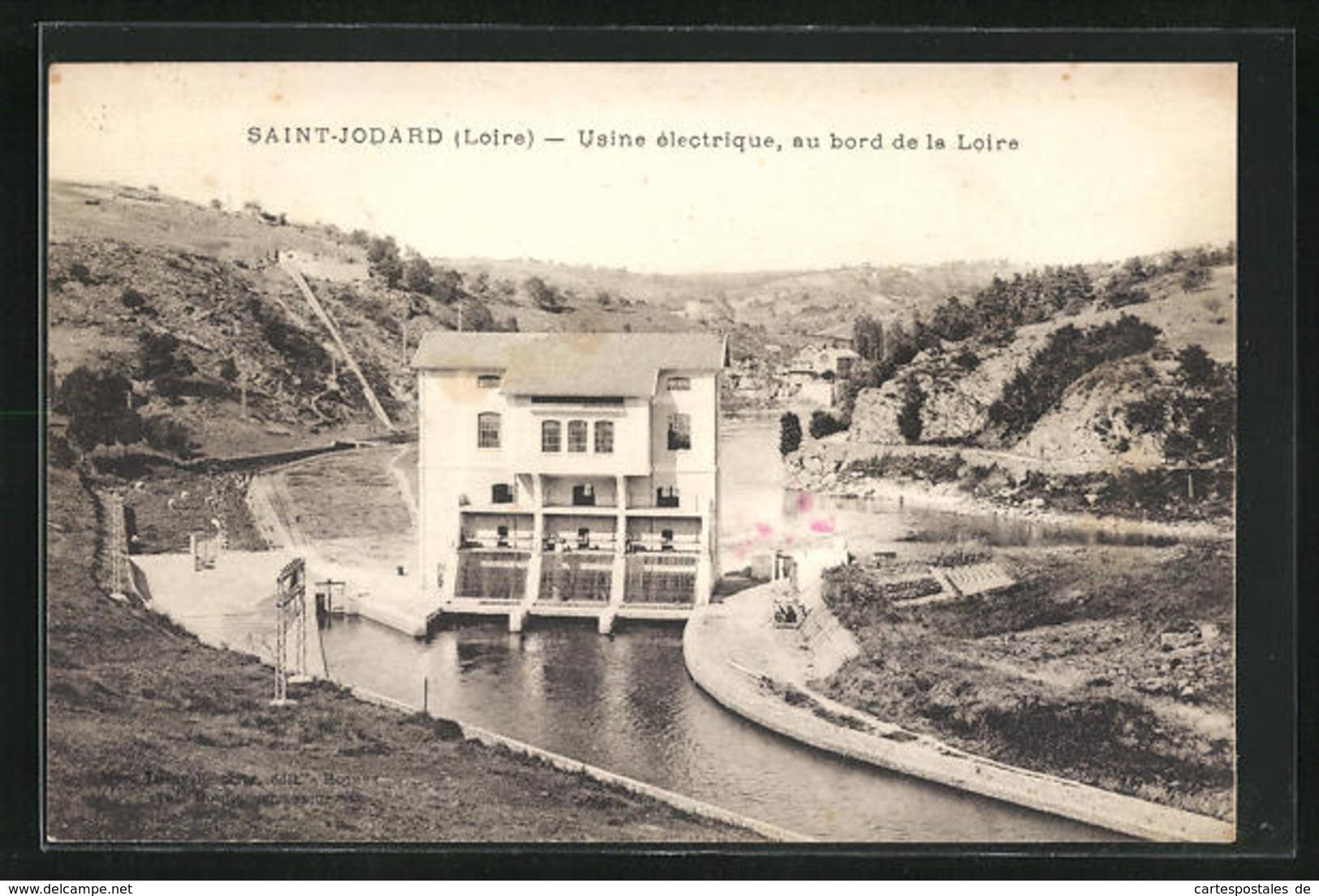 CPA Saint-Jodard, Usine Electrique, Au Bord De La Loire - Non Classés