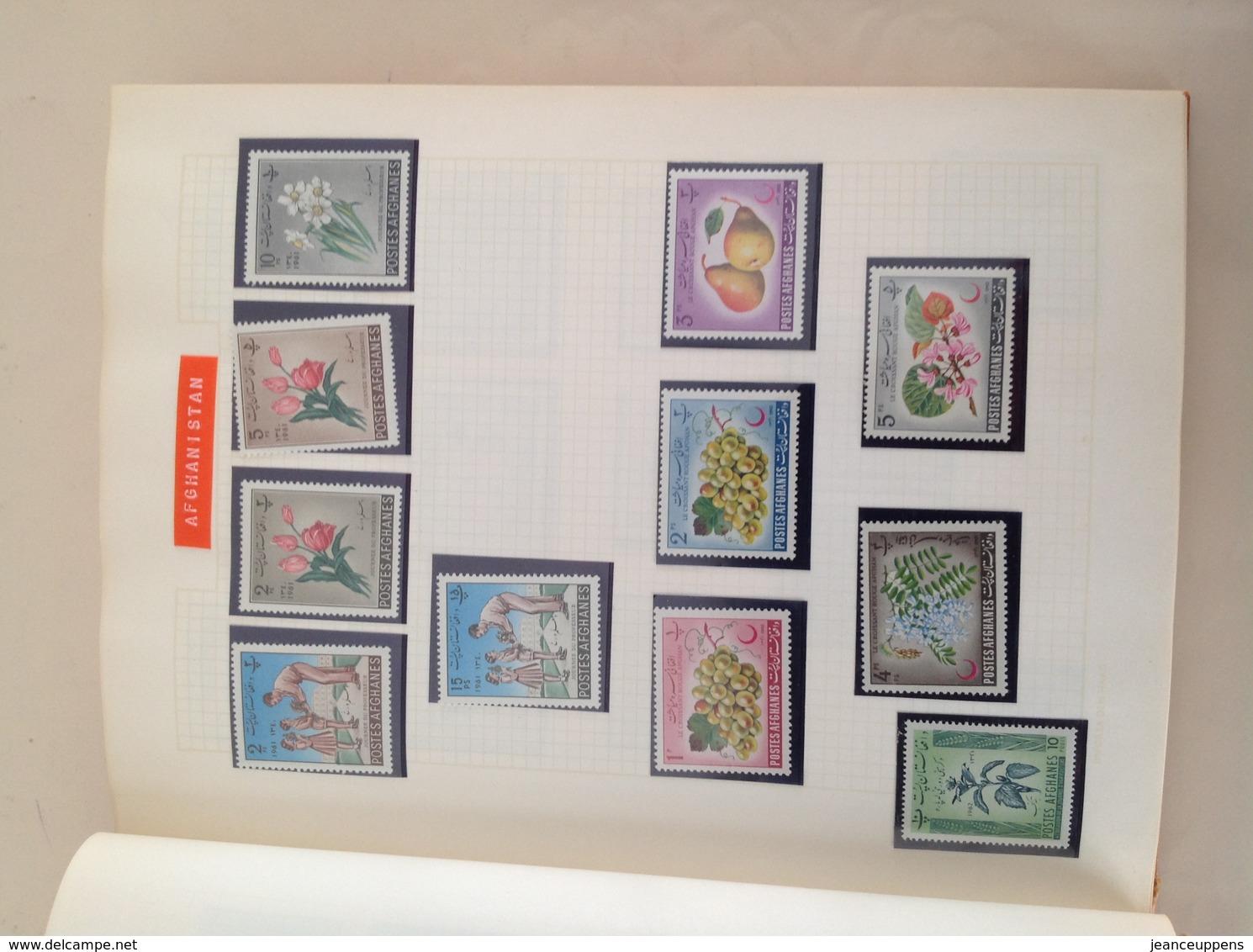 Vente Ensemble De 35 Timbres Thématique Fleurs Années 1950/1975 (Afghanistan) - Timbres