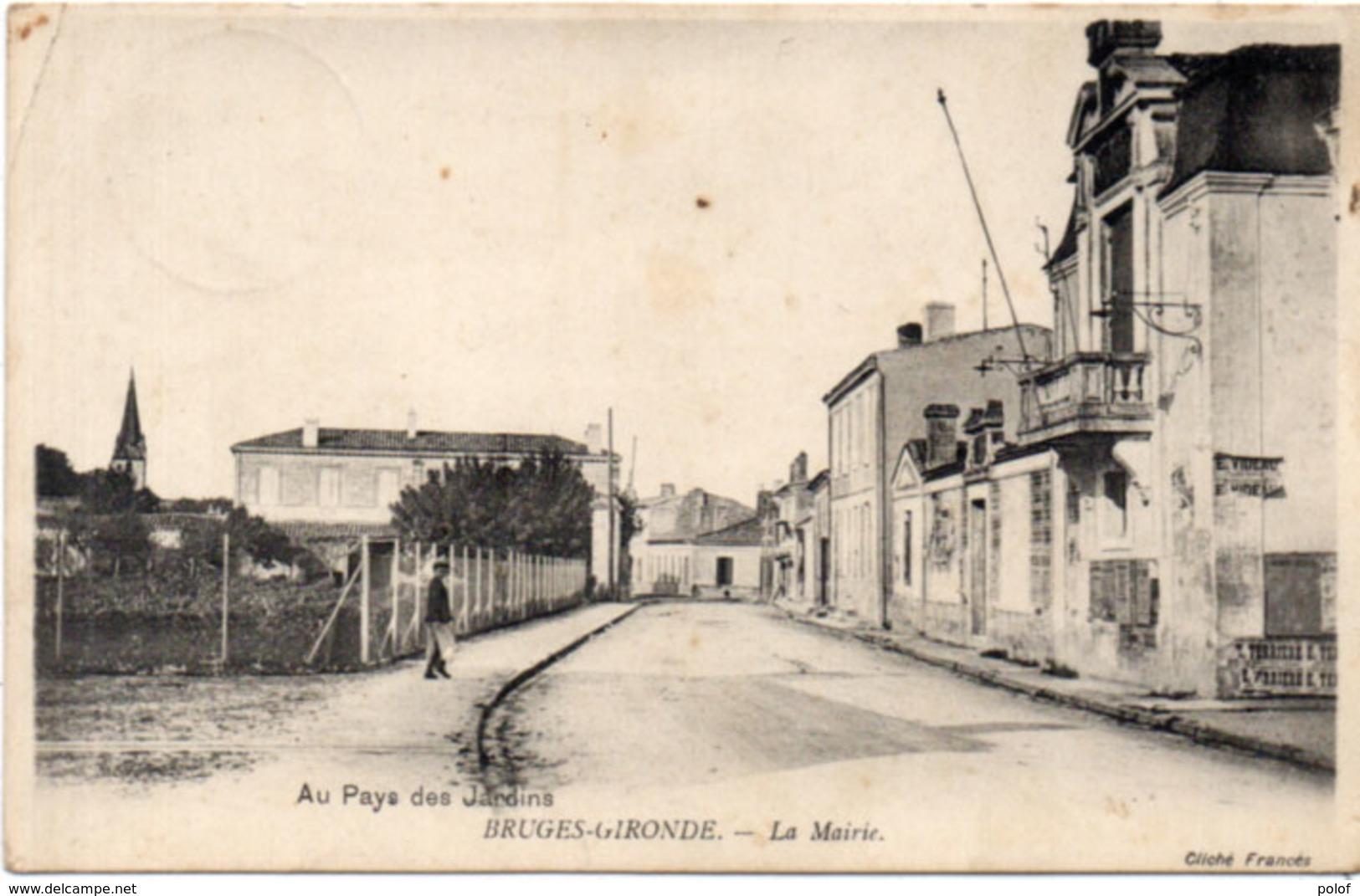 BRUGES-GIRONDE - La Mairie - Cachet Militaire Allemand  (Prisonnier De Guerre)   (113843) - France