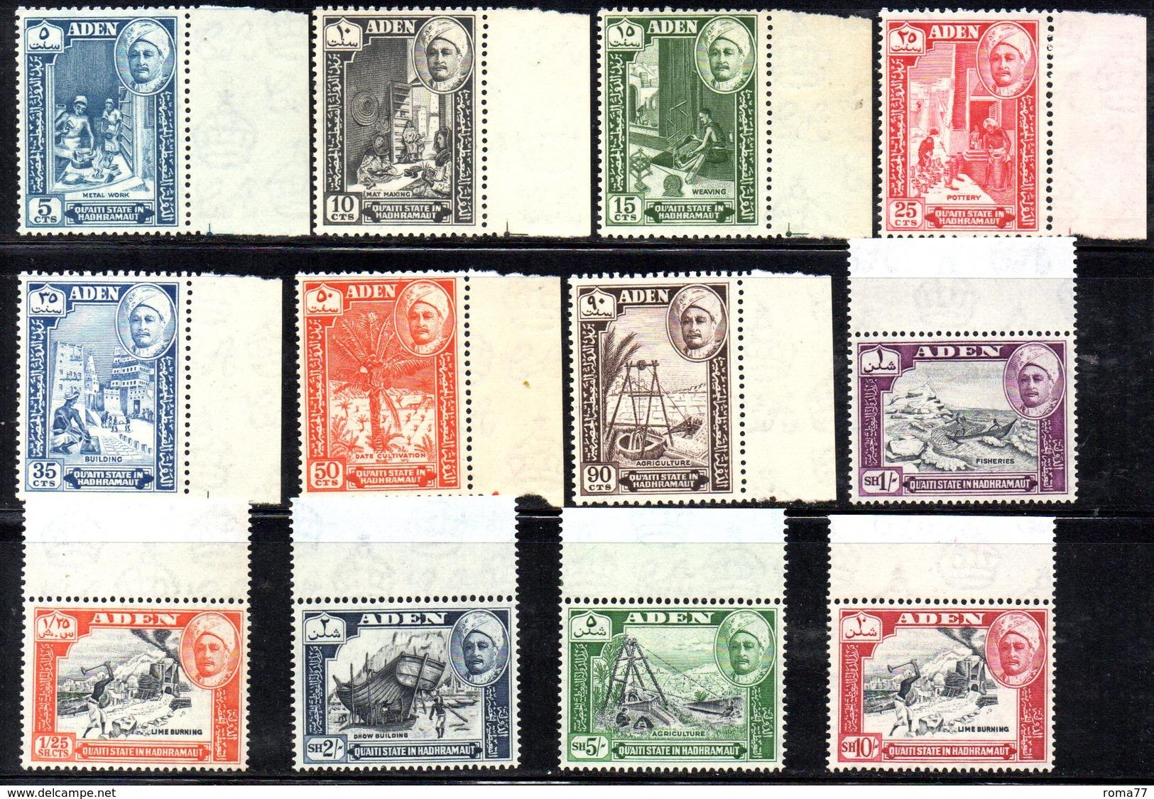CI1020 - ADEN QUAITI STATE IN HADHRAMAUT 1955 , Serie Yvert N. 29/40  *** MNH (2380A) - Aden (1854-1963)