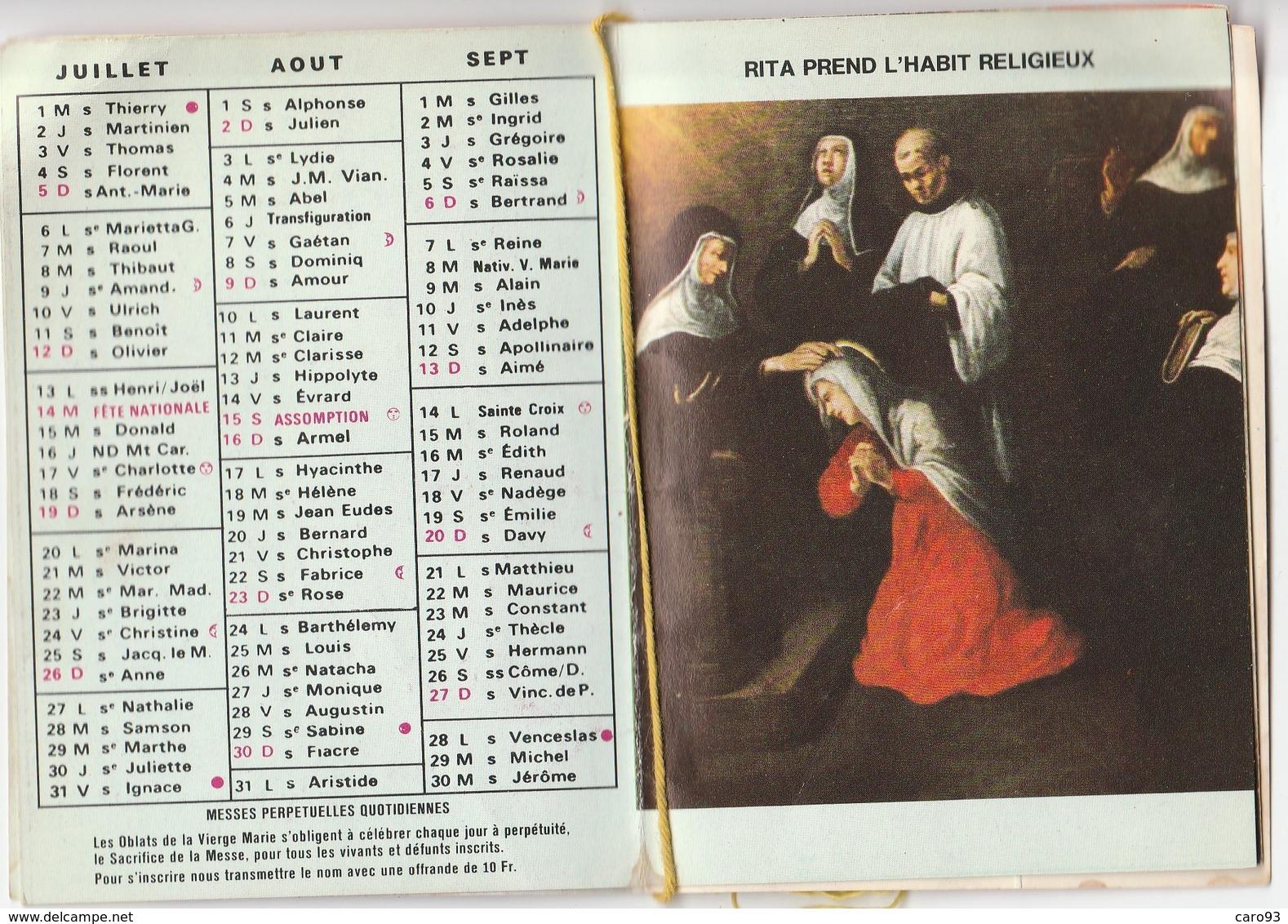 Petit Calendrier 1981 Sainte Rita Veille Sur Nous - Calendriers
