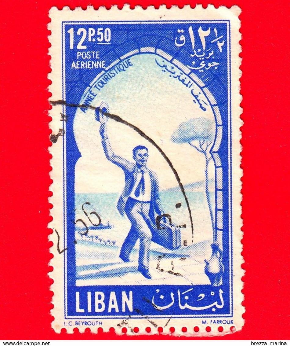 LIBANO - Usato - 1955 - Anno Turistico Internazionale - 12.50 - P. Aerea - Libano