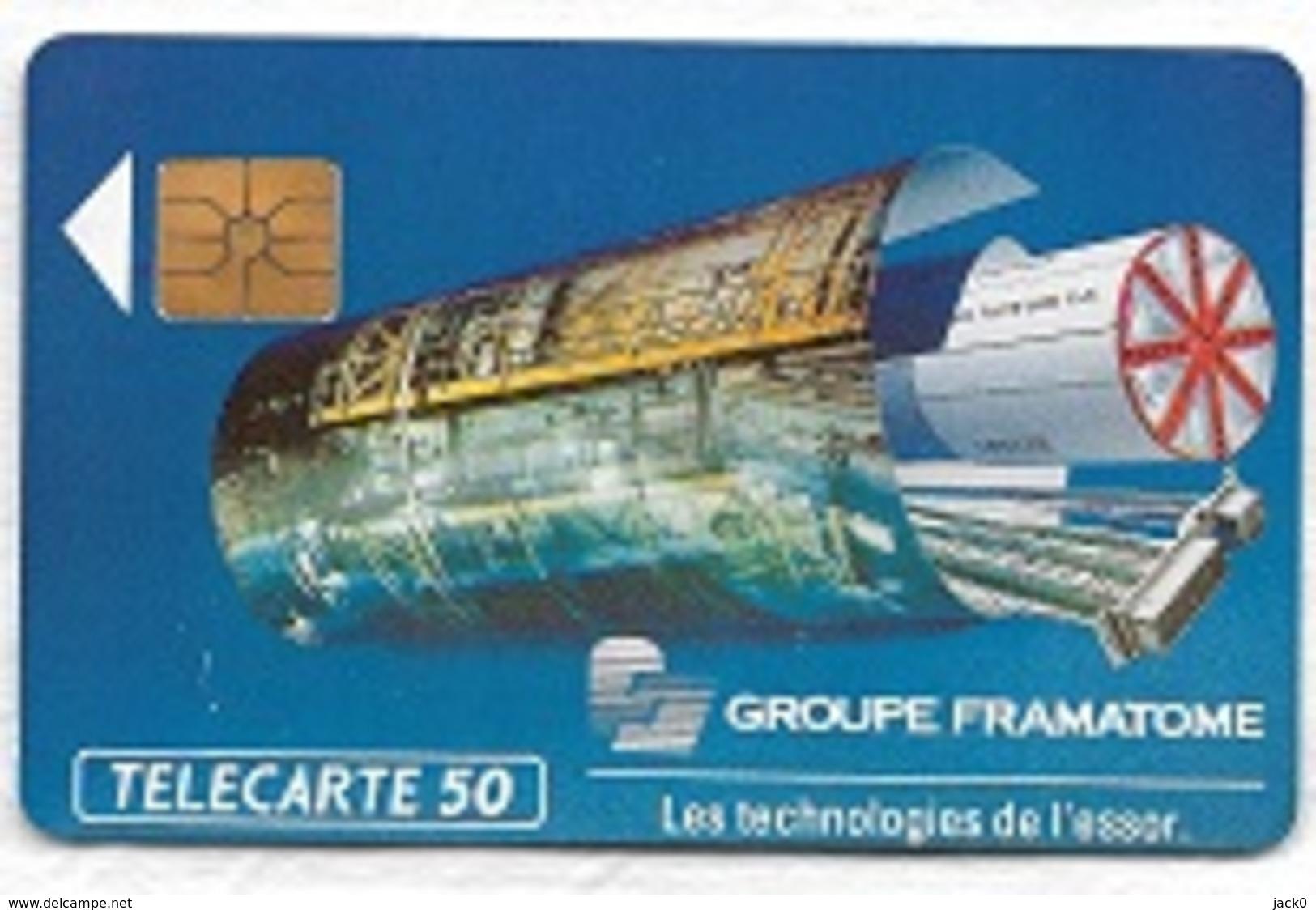 Télécarte  Neuve  50 U, En 244, GROUPE  FRAMATOME 12 / 91  12 000 Ex - France