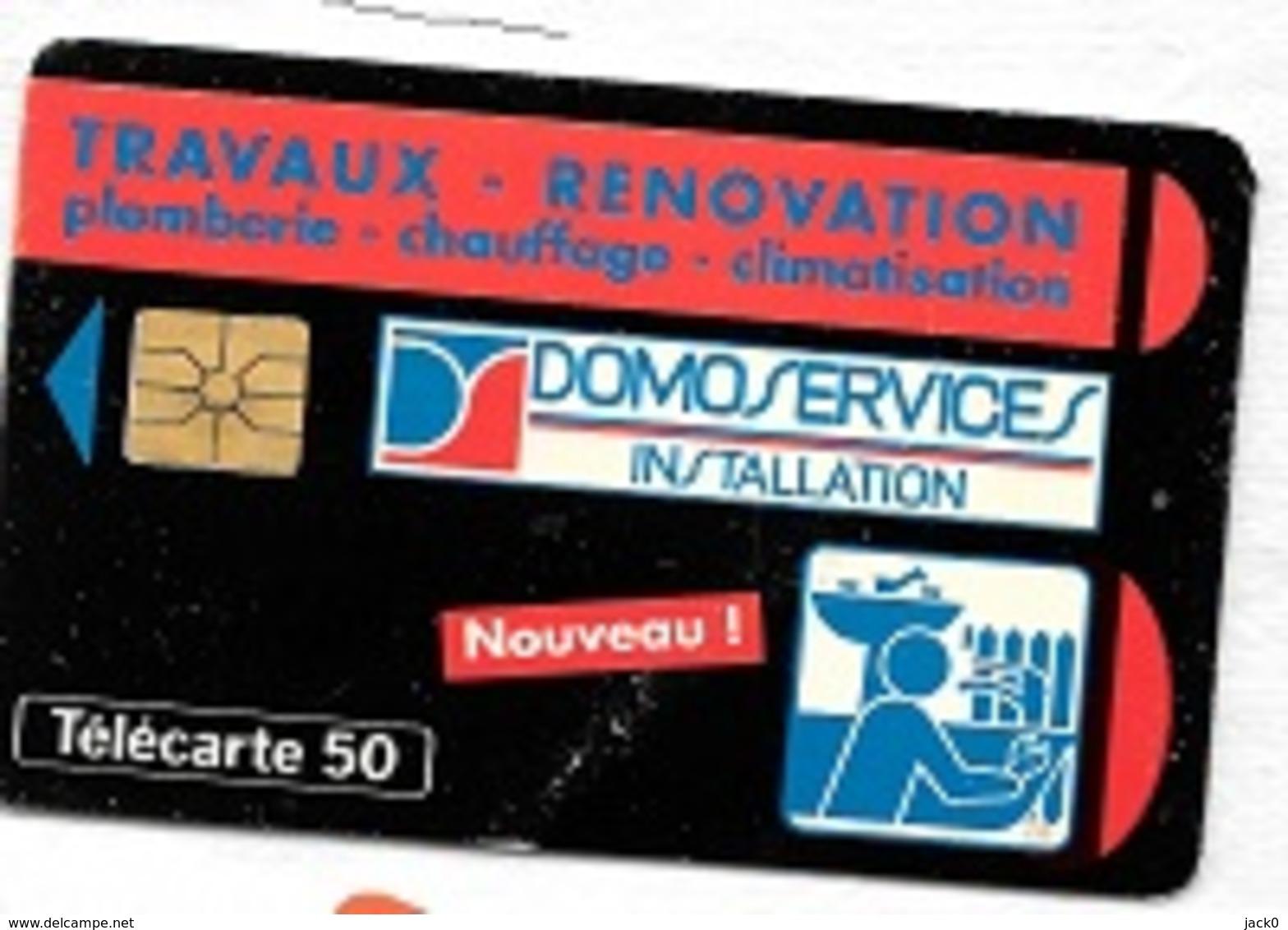 Télécarte  50 U, En 685, DOMOSERVICES  INSTALLATION,  06 / 93, 9000 Ex  ( En  L' état ) - France