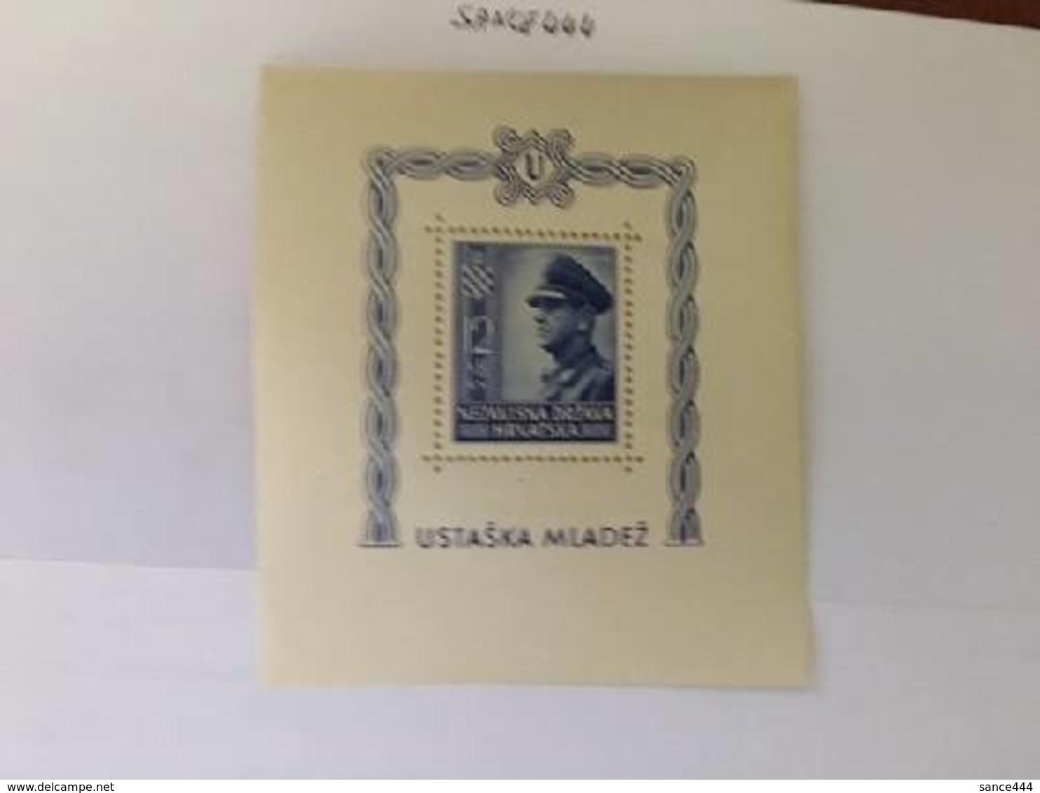 Croatia Croatic State S/s Mnh 1943 - Croatia