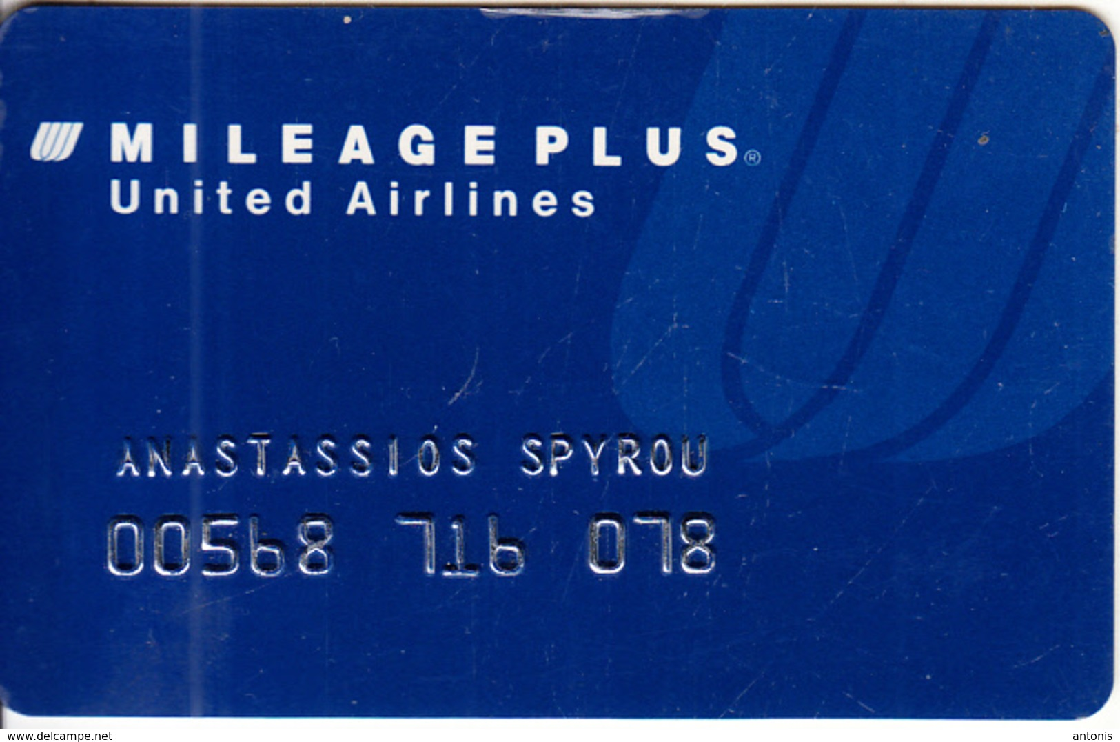 USA - United Airlines Magnetic Member Card, 01/98, Used - Vliegtuigen