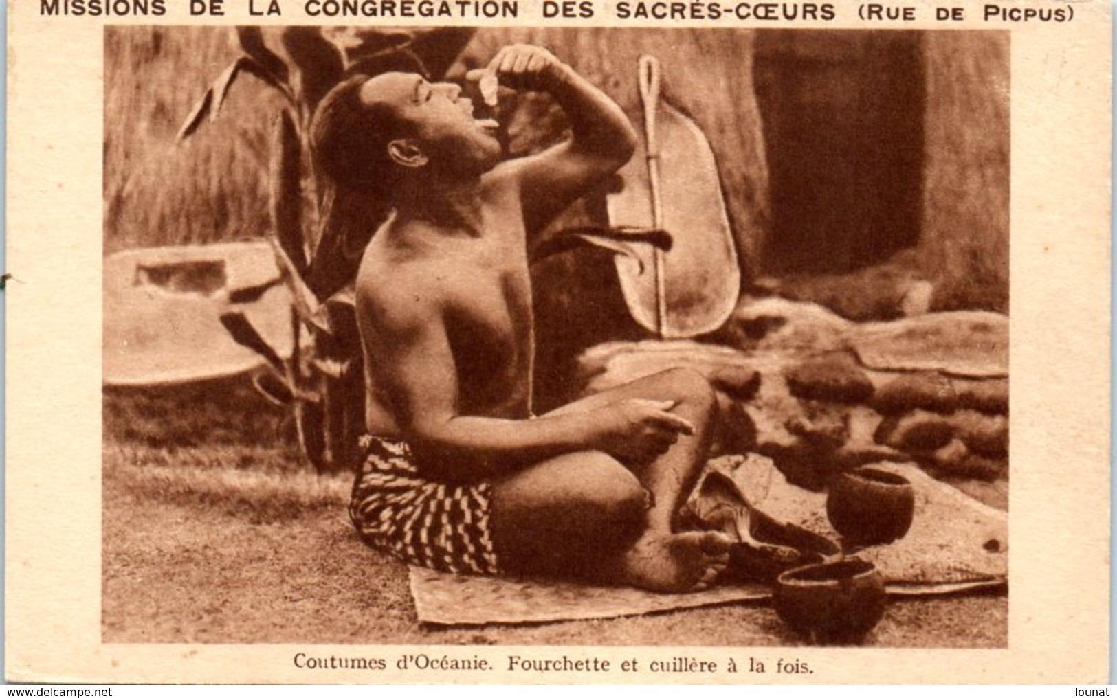 L'Afrique - Coutumes D'Océanie - Fourchette Et Cuillère à La Fois - Missions De La Congrégation Des Sacrés Coeurs - Missions
