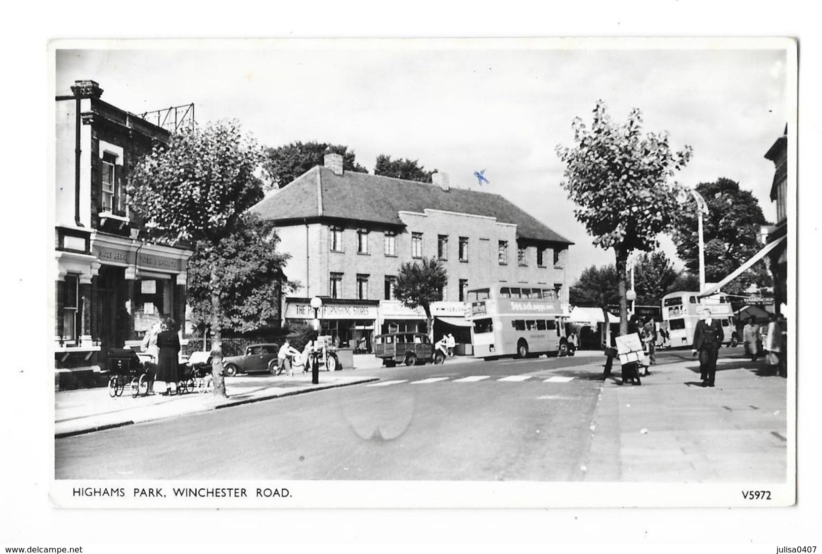 HIGHAMS PARK (Angleterre) Winchester Road Autobus Commerces - Autres