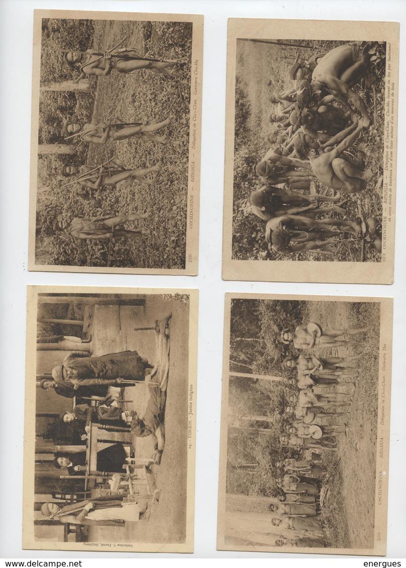 Indochine, Cochinchine,Vietnam,lot De 76 Cartes, Tonkin, Saïgon,,Annam,,Bienhoa,Mois Nombreux Thèmes,36 Cartes Scannées, - Vietnam