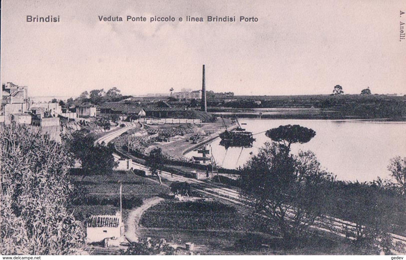 Italie, Brindisi, Ponte Piccolo E Linea Brindisi Porto (329) - Brindisi