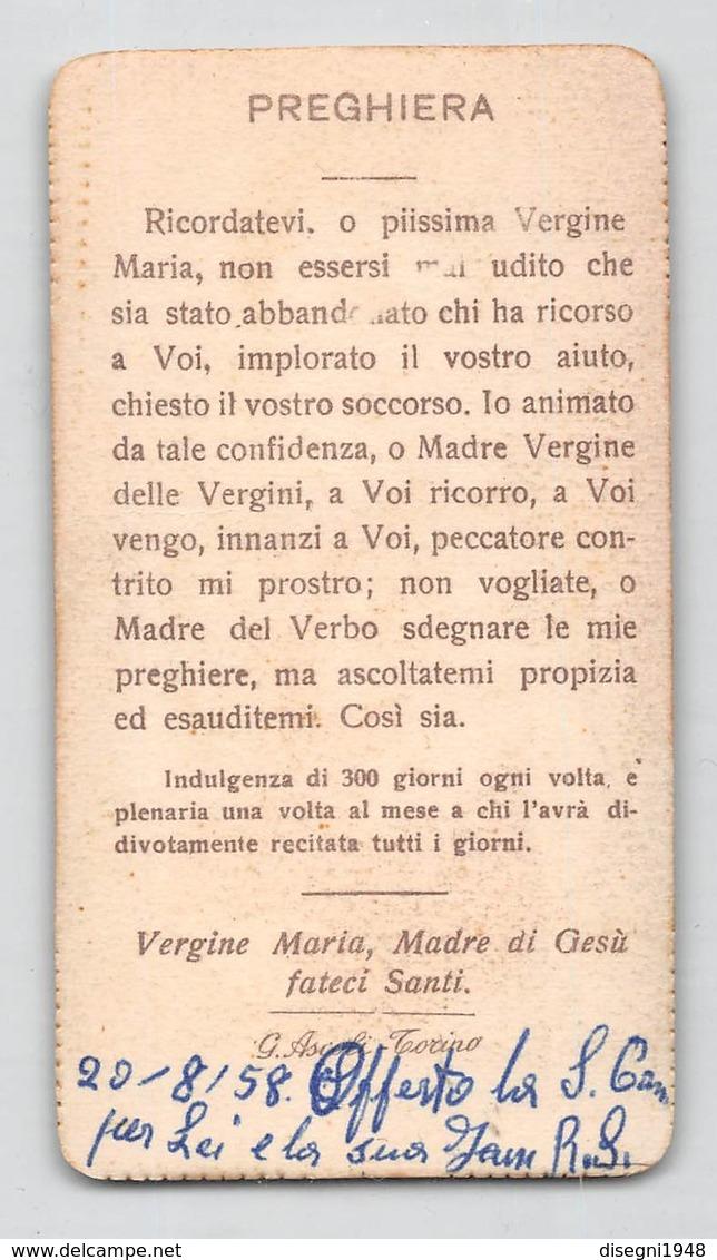 """08151 """"SS. VERGINE DELLA SANITA' - SAVIGLIANO (CN)"""" IMM. RELIGIOSA ORIG. - Santini"""