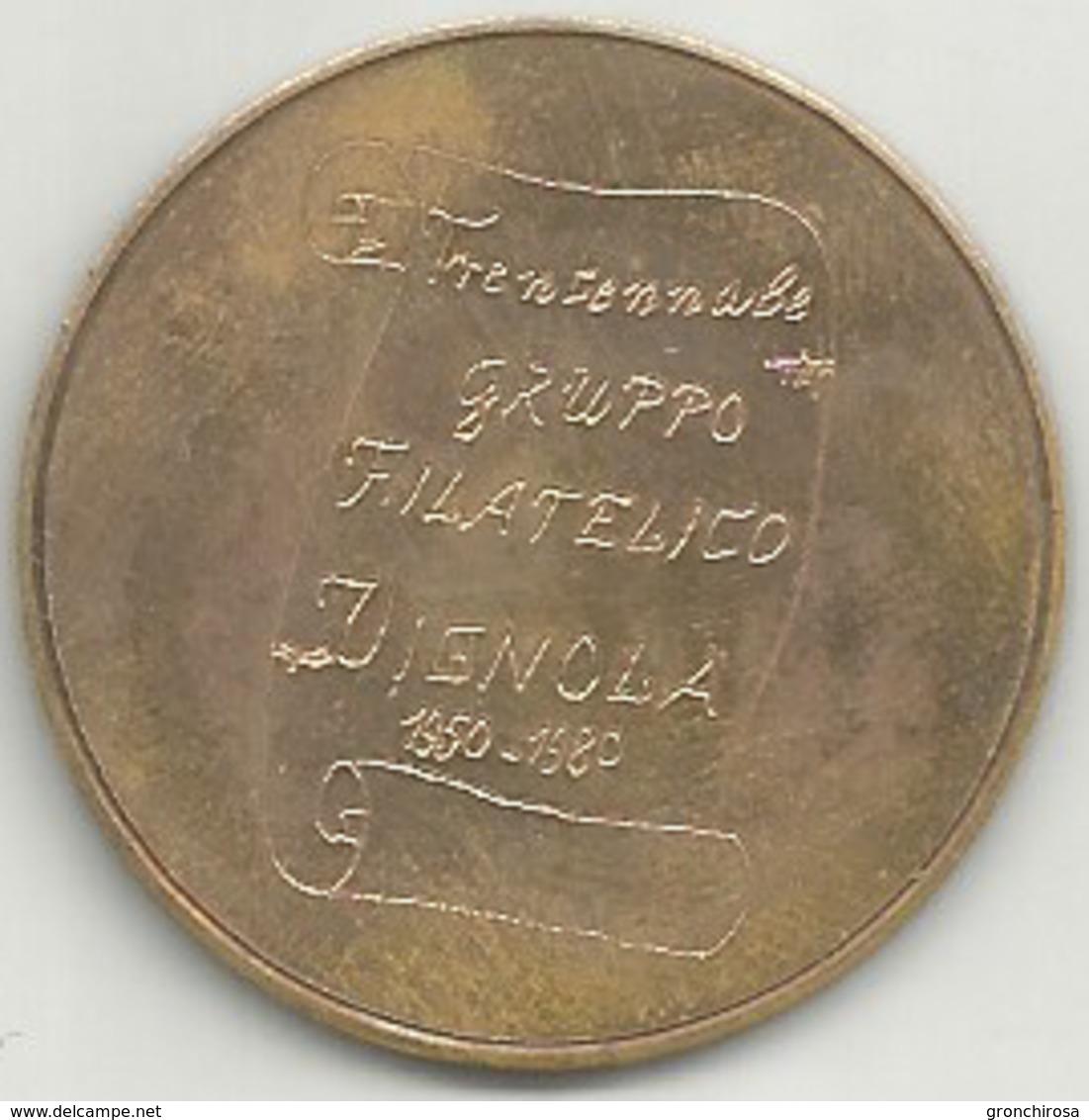 Vignola 1950 - 1980 Trentennale Gruppo Filatelico, Francobollo Provincie Modenesi, Cu., Gr. 12, Cm. 3,3. - Altri