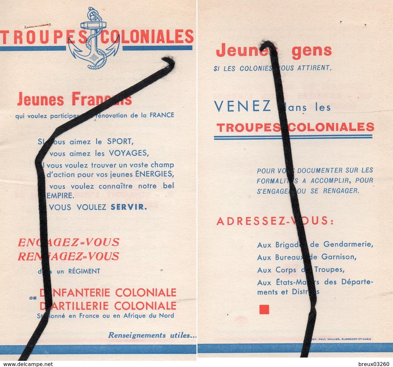 """Document-  """" Troupes Coloniales"""" Engagez Vous ..- - Documents"""