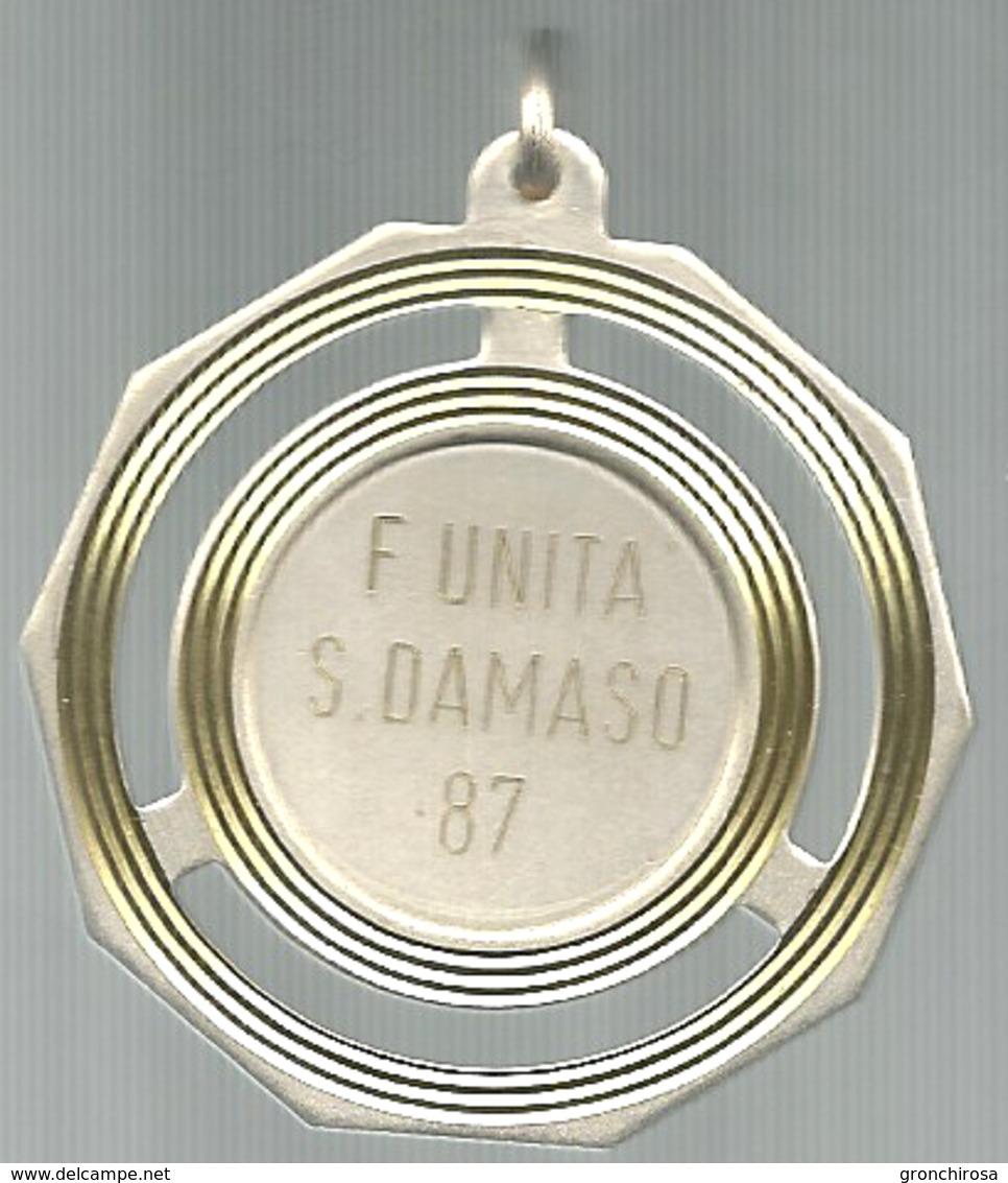 San Damaso 1987, Festa Dell'Unità, Politica, Giornali,  Mist. Dorata, Gr. 20, Cm. 5. - Italia