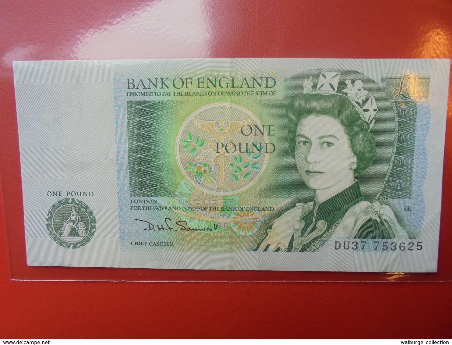 GRANDE-BRETAGNE 1 POUND 1978-84 CIRCULER - 1952-… : Elizabeth II