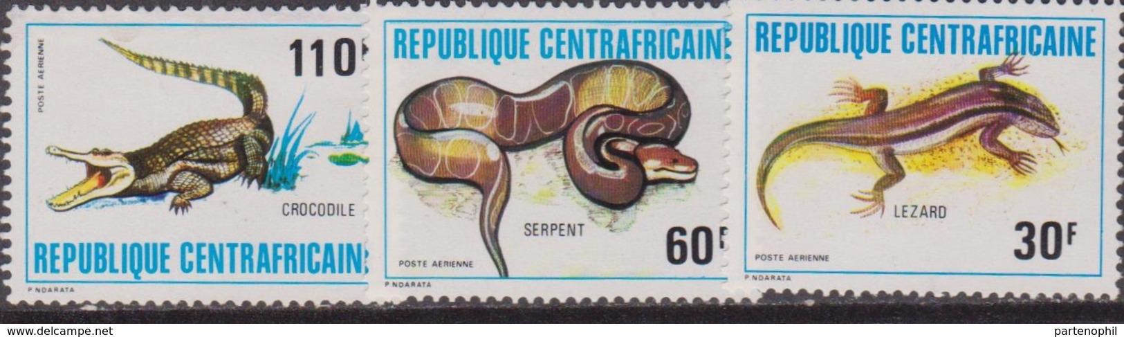 Rep. Centrafricaine Reptiles Snake Set MNH - Repubblica Centroafricana
