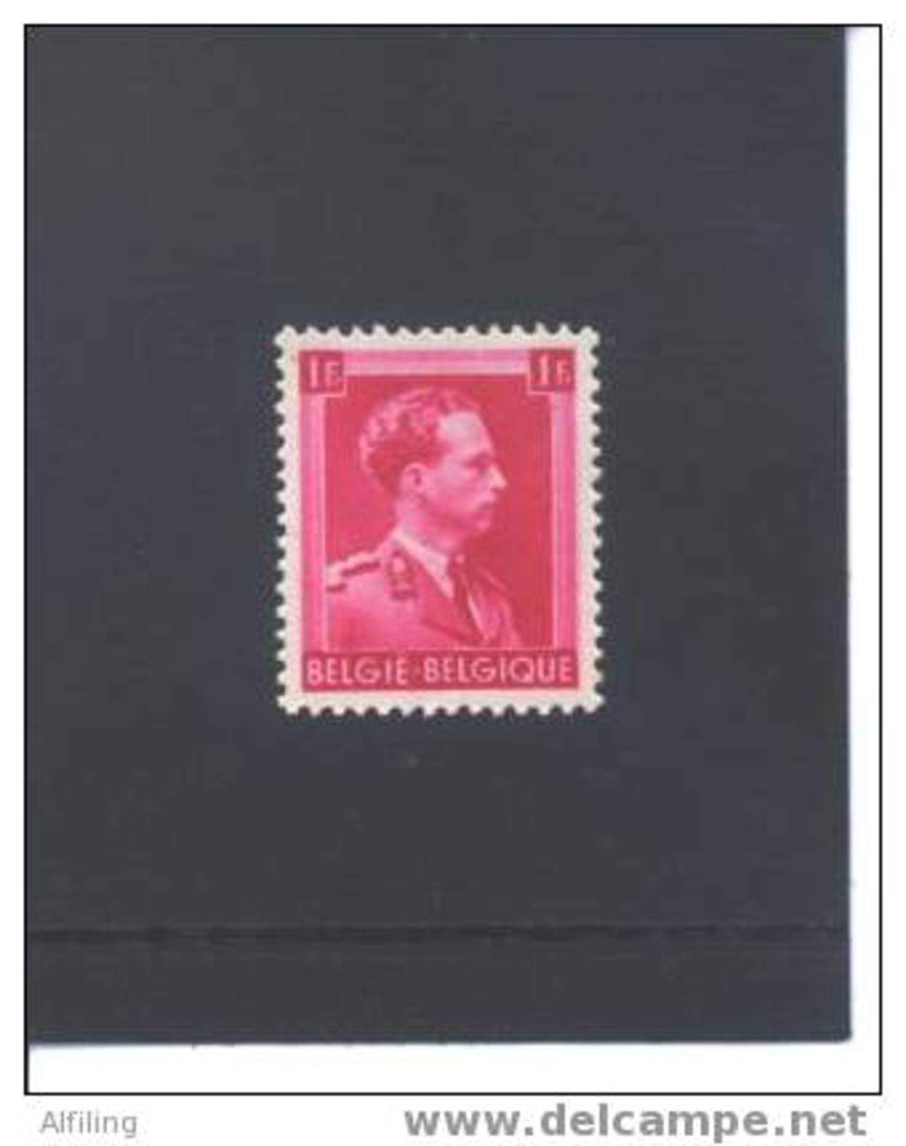 528b**  (impression Huileuse)   Cote COB : 0.50 € - 1936-1957 Col Ouvert