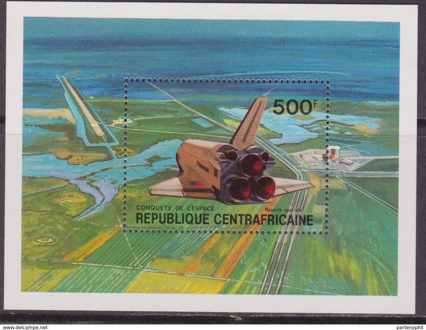 Rep. Centrafricaine - Spazio Space Sheet MNH - Repubblica Centroafricana