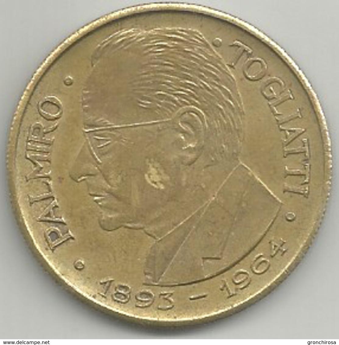 Togliatti Palmiro 1893 - 1964, P.C.I., Ae. Gr. 15 Cm. 3,5. - Italia