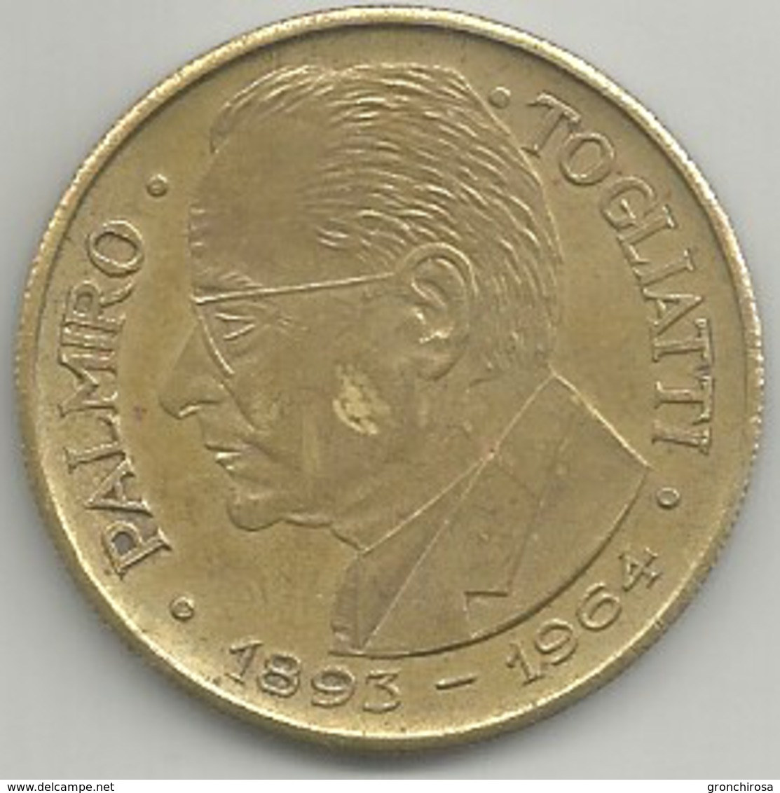 Togliatti Palmiro 1893 - 1964, P.C.I., Ae. Gr. 15 Cm. 3,5. - Altri
