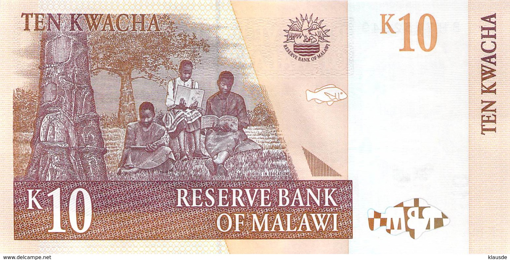10 (TEN) Kwacha Malawi UNC 2004 - Malawi
