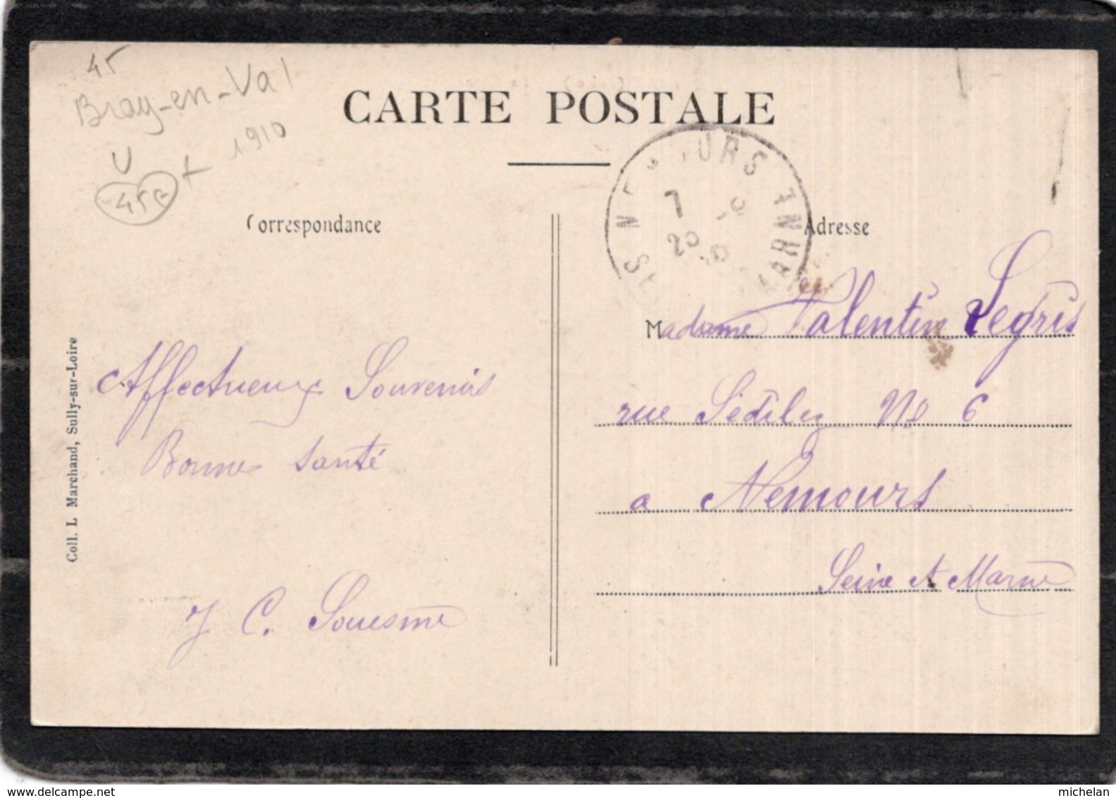 CPA   45   BRAY---LA GARE---ANIMEE---1910 - France