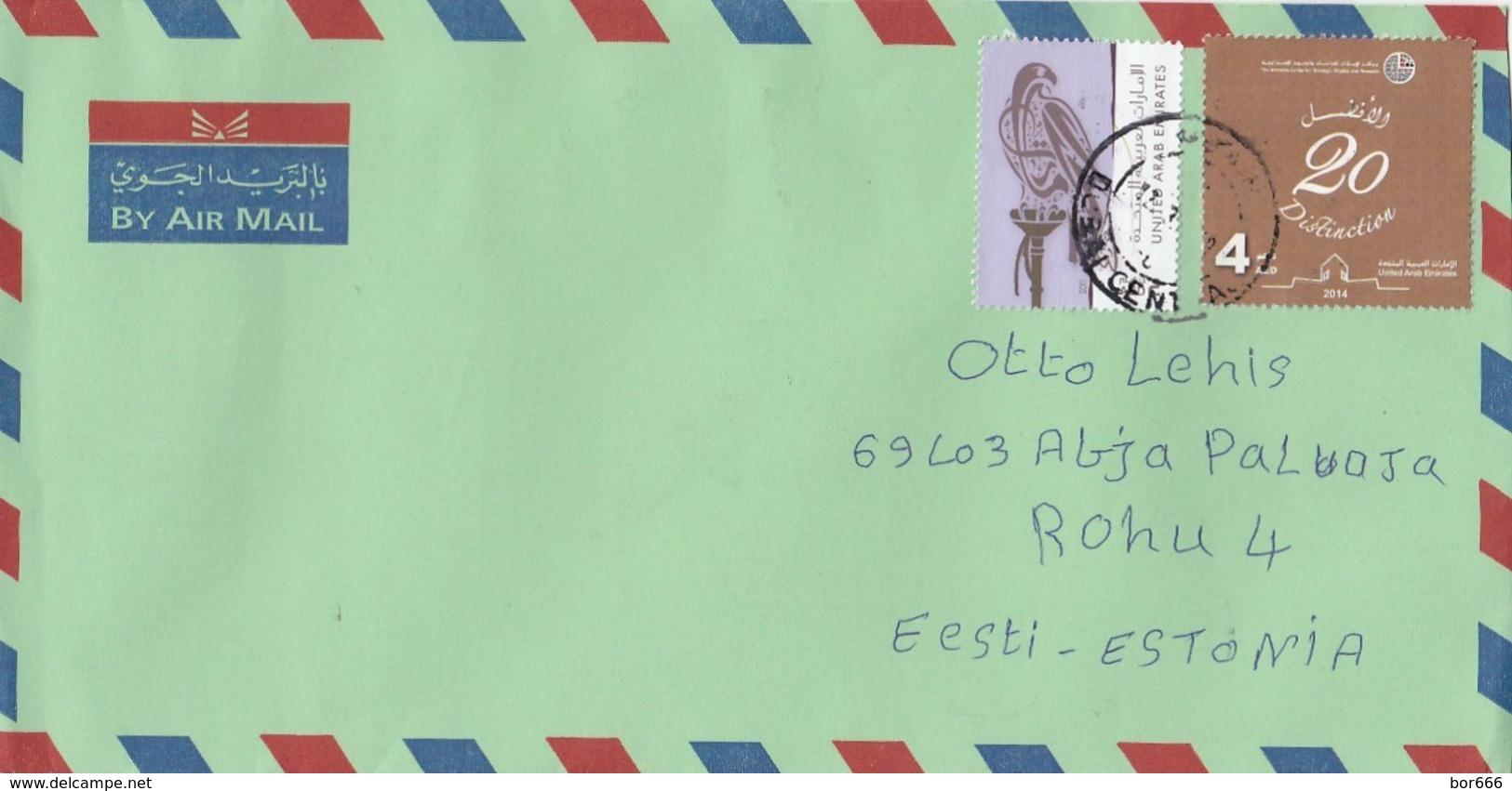 GOOD UAE Postal Cover To ESTONIA 2018 - Good Stamped: Birds ; Distinction 20 - United Arab Emirates