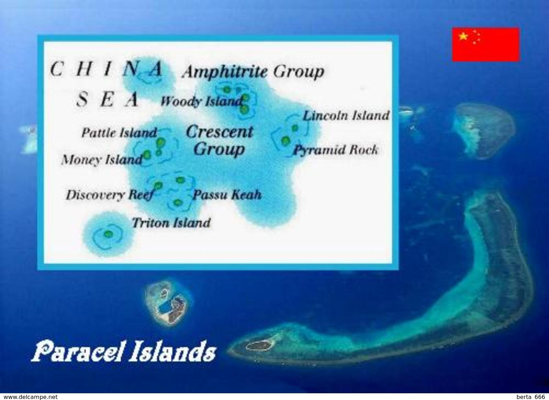 Paracel Islands Map New Postcard Inseln Landkarte AK - China