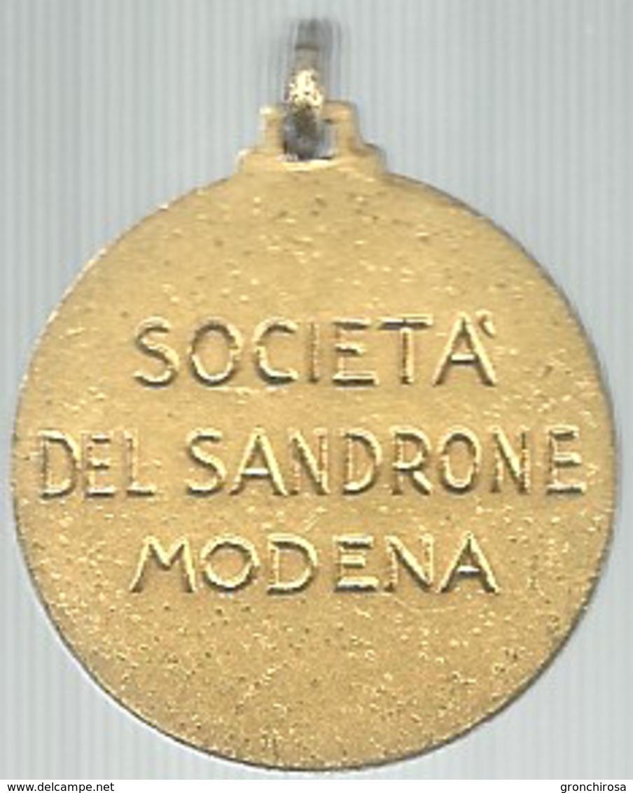 Modena, Carnevale, Società Del Sandrone, Mist. Dorata 8 Gr., Cm. 2,9. - Altri