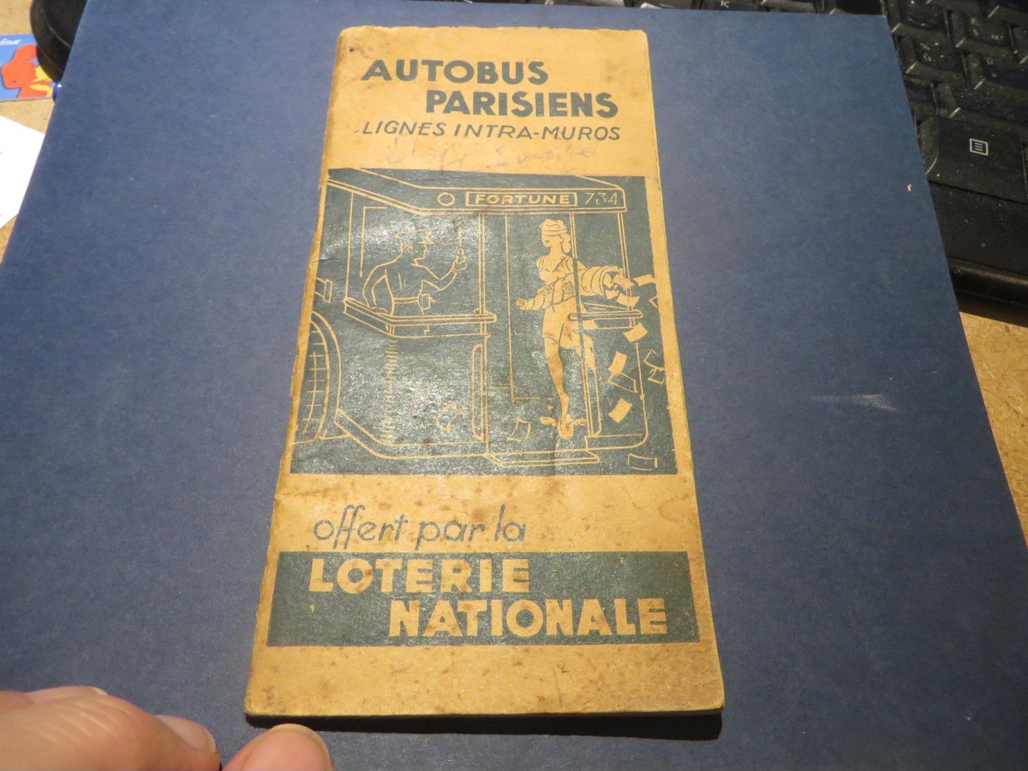 LIGNES D'AUTOBUS ET PUBLICITE LOTERIE NATIONAL - Transports