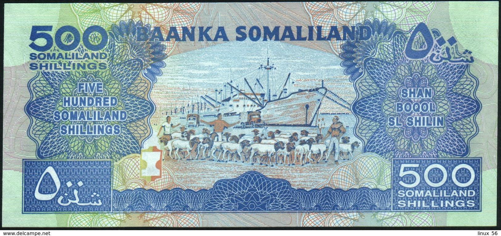 SOMALILAND - 500 Shilin / Shillings 2008 UNC P.6 G - Somalia