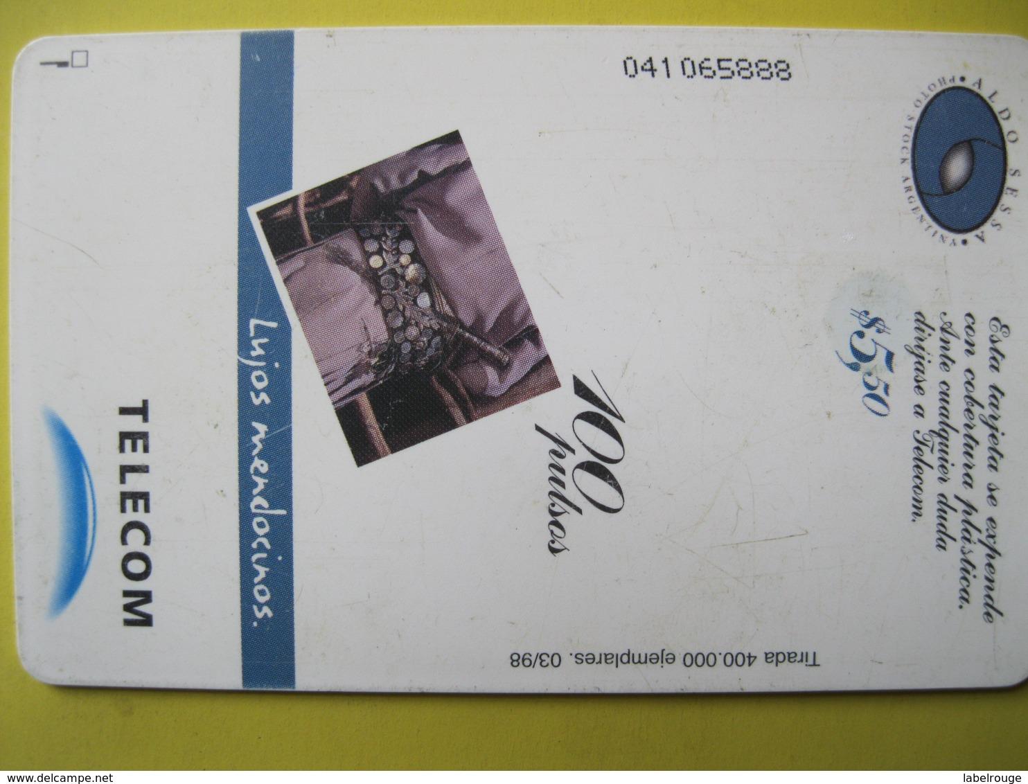 Télécarte D'Argentine - Argentina