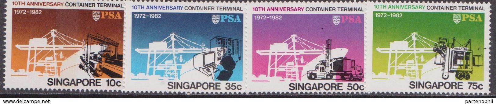 Singapore - 1982 Terminal Container Set MNH - Singapore (1959-...)