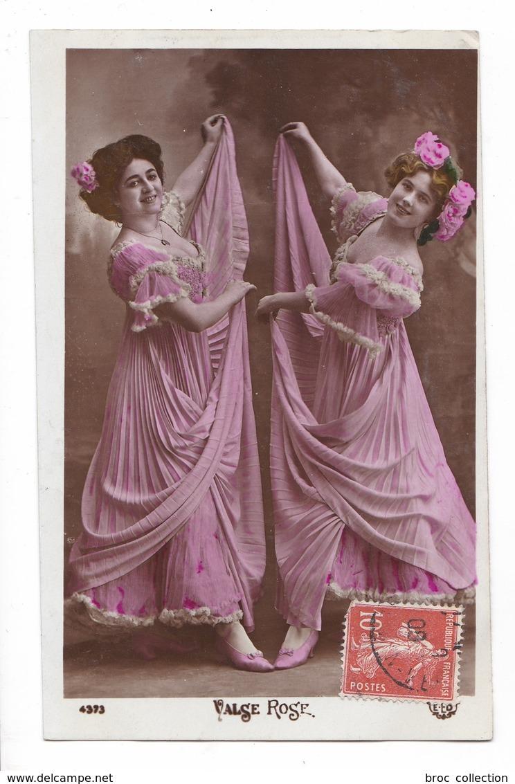 Valse Rose, Deux Danseuses, 1909, éd. E.L.D. N° 4373, Robe, Mode - Femmes
