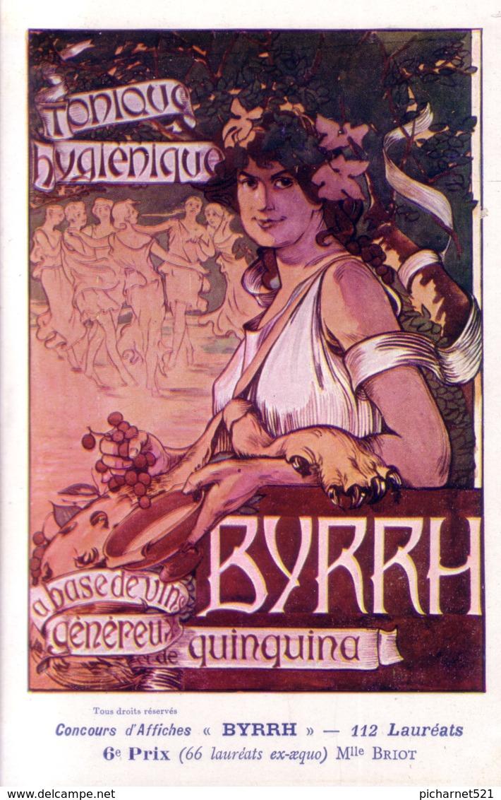 Concours D'affiches BYRRH. 6ème Prix. Illust. De Melle BRIOT. Non Circulée. TB état. - Advertising
