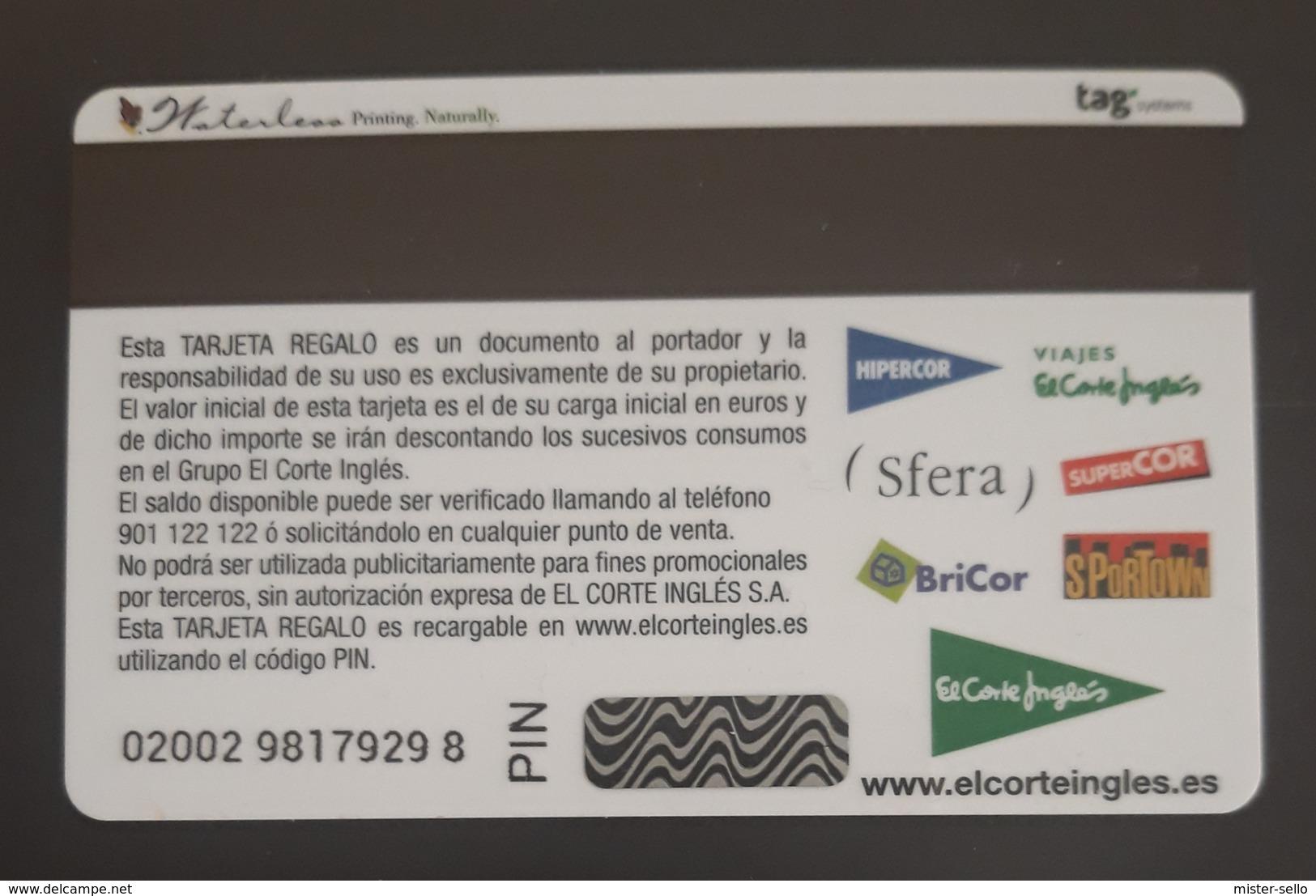 ESPAÑA TARJETA REGALO TOTALMENTE NUEVA EL CORTE INGLÉS CON CARTERITA. - Tarjetas De Regalo
