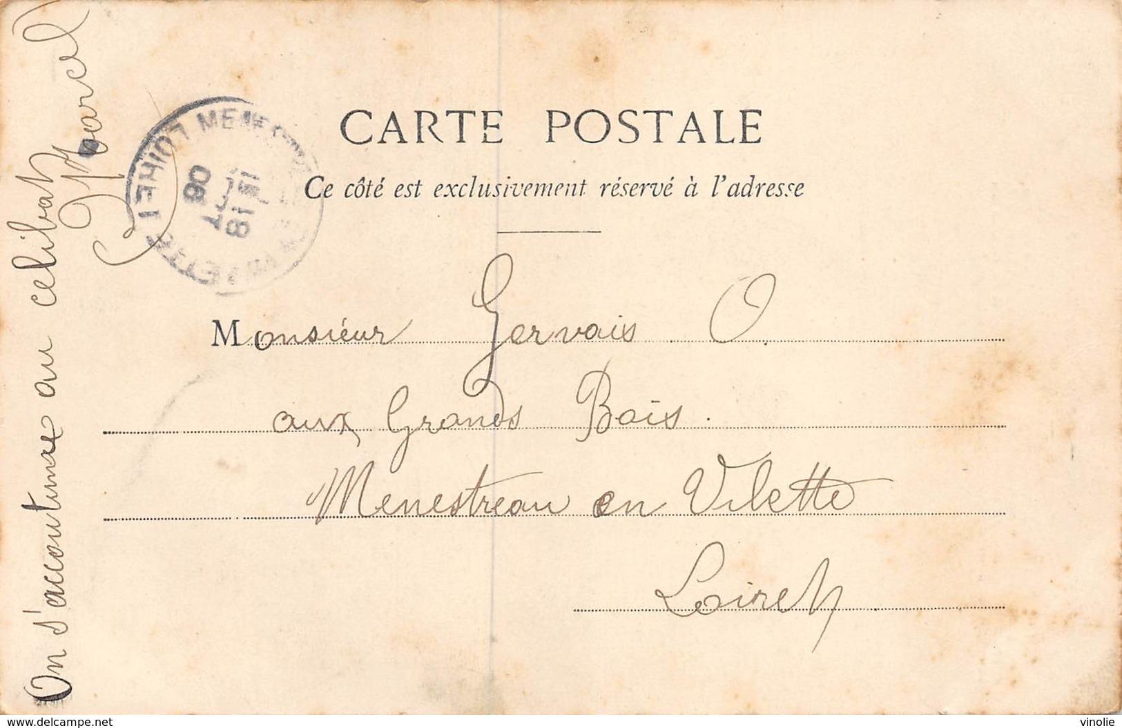 PIE.LOT CH -19-4746 : EDITION BERGERET EDITEUR A NANCY.  BOIRE A TIRE-LARIGOT. CLOCHE. - Cartes Postales