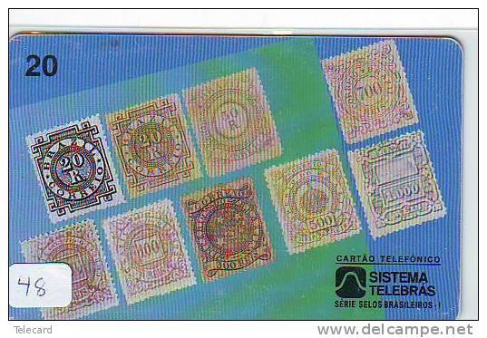 Timbres Sur Télécarte STAMPS On PHONECARD (48) - Timbres & Monnaies