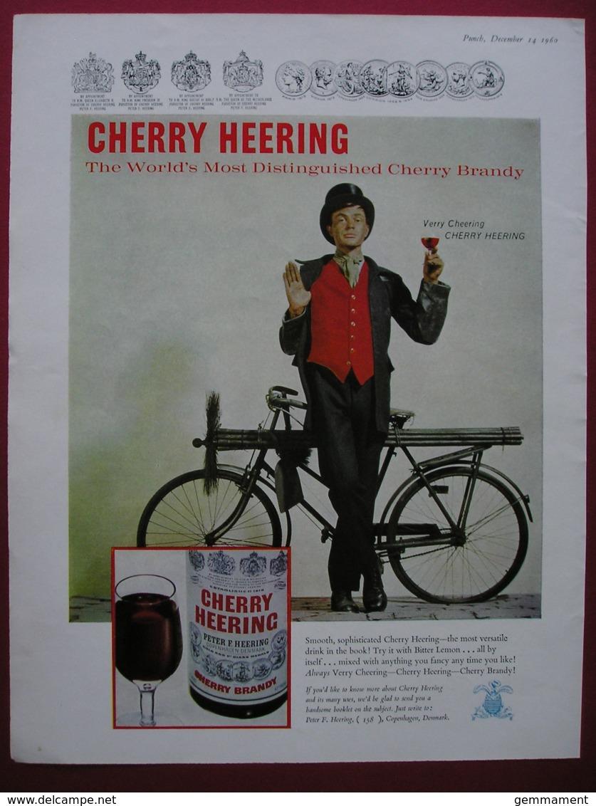 CHERRY HEERING CHERRY BRANDY -ORIGINAL 1960 MAGAZINE ADVERT. - Advertising