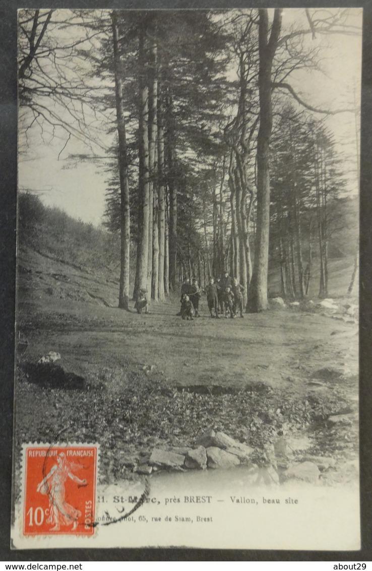 CPA 29 BREST (près) - RARE - SAINT MARC - Vallon, Beau Site - Boellé 411 - Réf. Y 193 - Brest