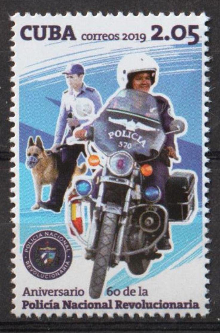 Cuba 2019 60th Anniversary Of National Police 1v MNH - Polizei - Gendarmerie