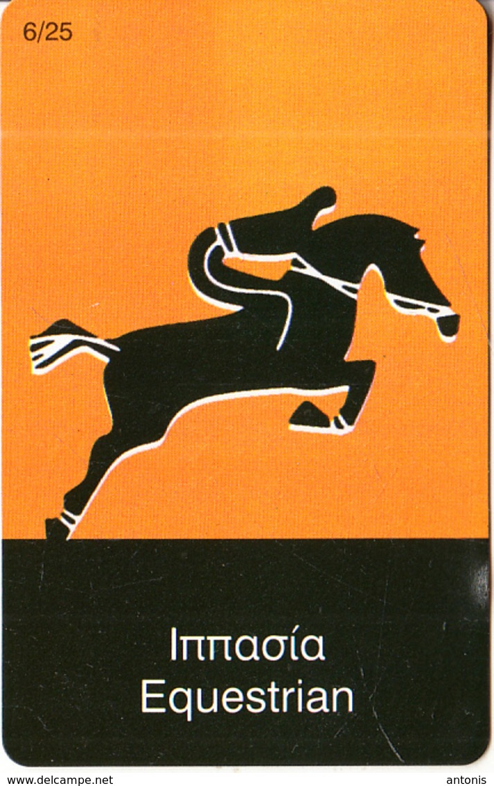 GREECE - Olympic Sports/Equestrian, DNA By Interconnect Promotion Prepaid Card, Tirage 10000, Mint - Jeux Olympiques