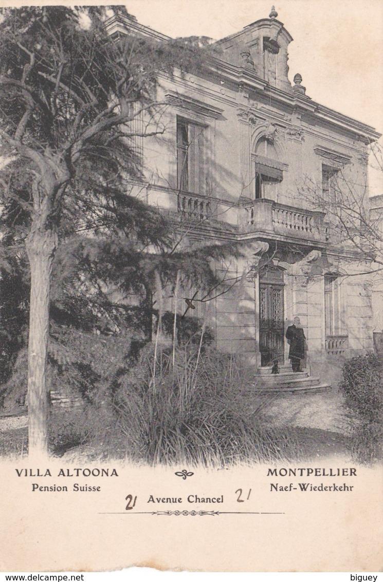 34 - Montpellier - Villa ALTOONA - Pension Suisse, Avenue Chancel. Naef-Wiederkehr. - Montpellier