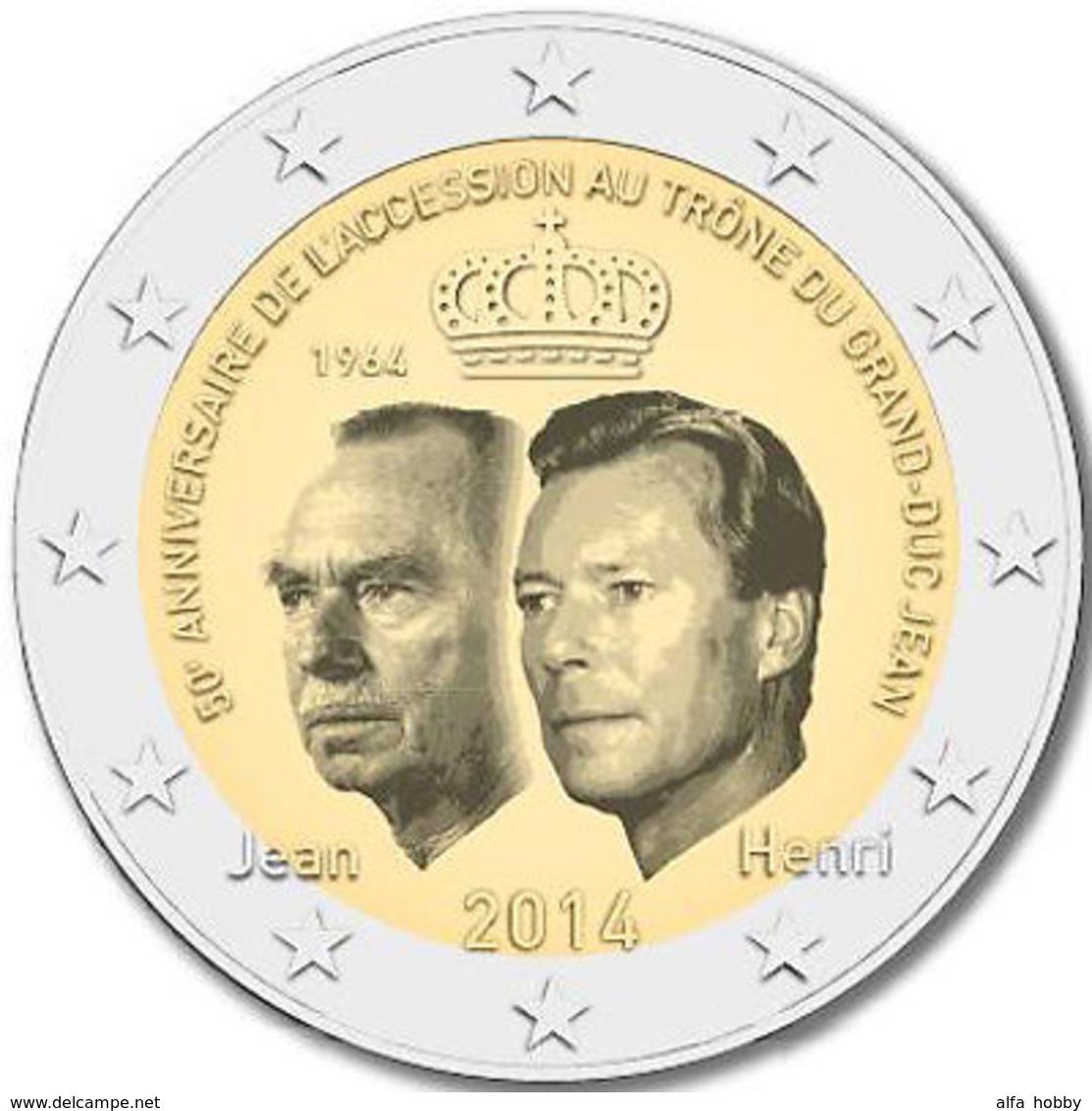 Luxembourg, Prince Duke Jean, 2014, 2 Euro - Litouwen