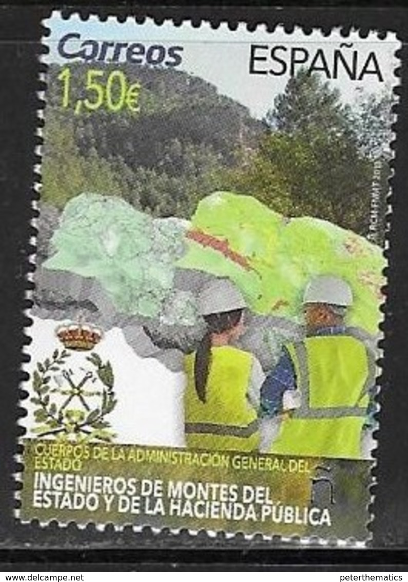 SPAIN, 2019, MNH,BODY OF ENGINEERS OF STATE FORESTRY, MOUNTAINS,1v - Jobs