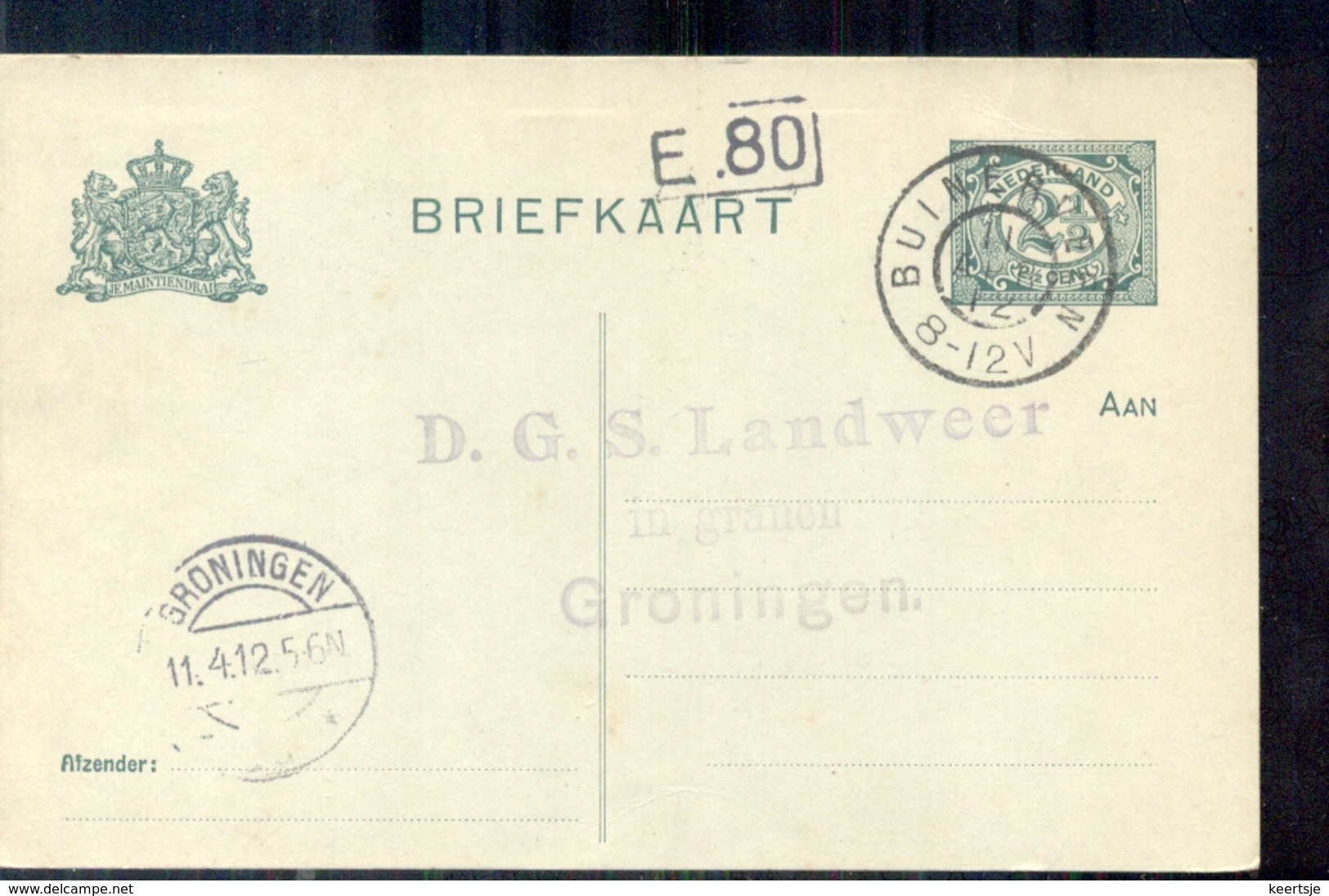 Groningen - D G S Landweer Granen - - - - - - 1912 - 1891-1948 (Wilhelmine)